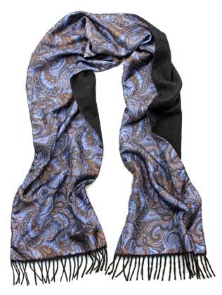 anthrazit/Paisley blau