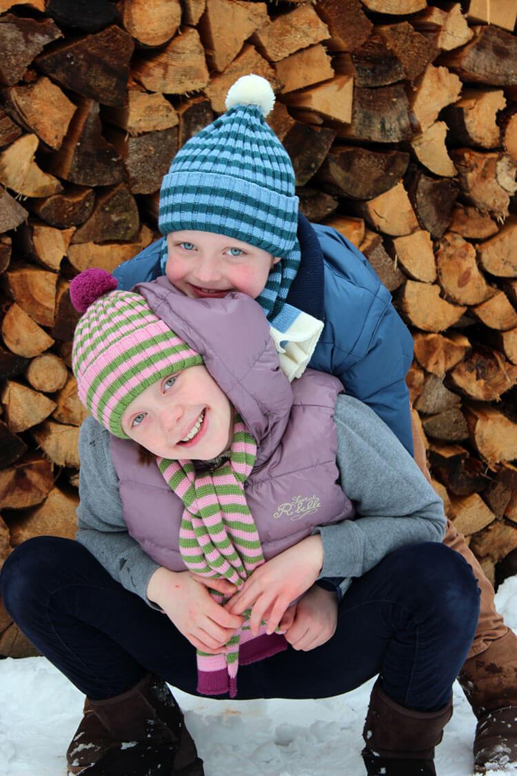 Bild von EmilEmilia-hat-scarf-stripes-pink-blue